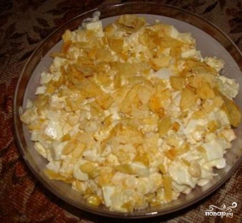 Рецепт Салат с чипсами