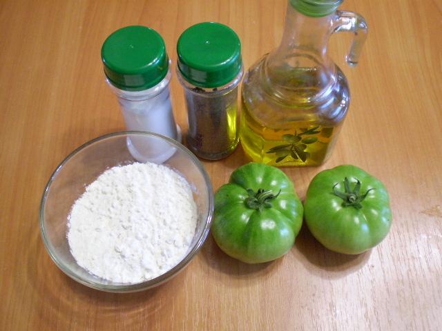 Рецепт Жареные зеленые помидоры