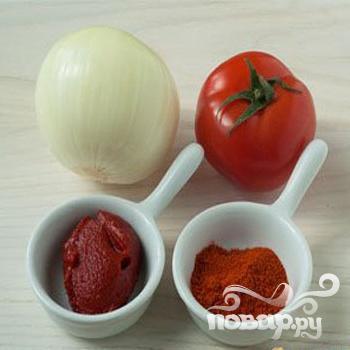 Горбуша, запеченная в духовке под томатным соусом - фото шаг 2