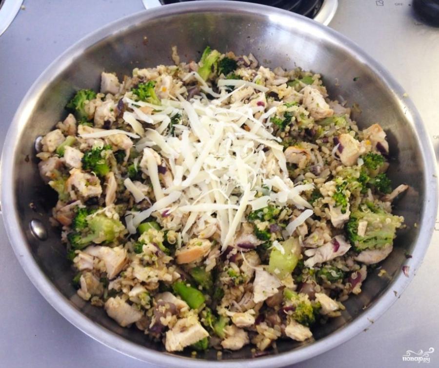 Салат с брокколи и грибами - фото шаг 5