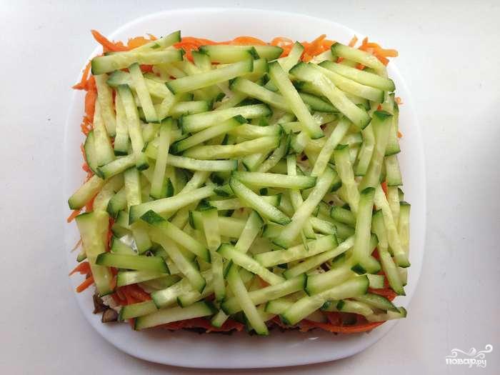 """Салат """"Восторг"""" с корейской морковью - фото шаг 3"""