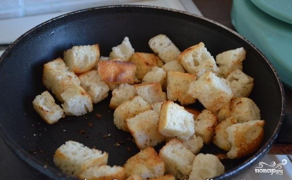 Сырный суп с гренками - фото шаг 6