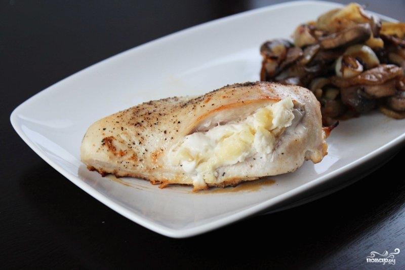 Фаршированные грудки курицы