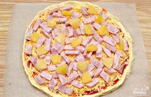 Пицца гавайская - фото шаг 4