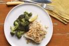 Запеченная рыба с брокколи