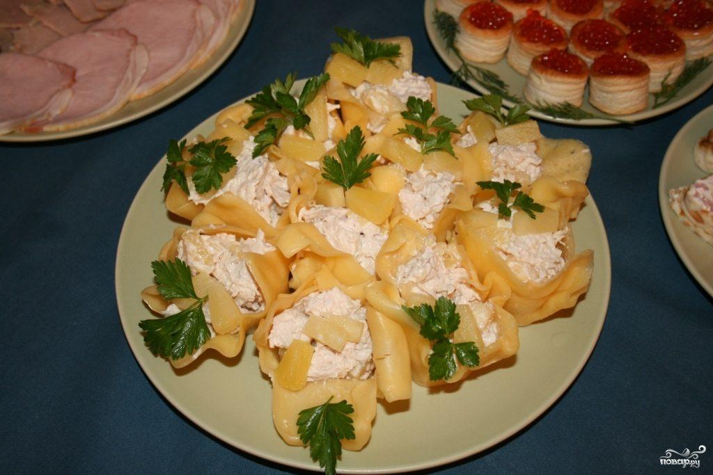 салат венеция рецепт с ананасом и