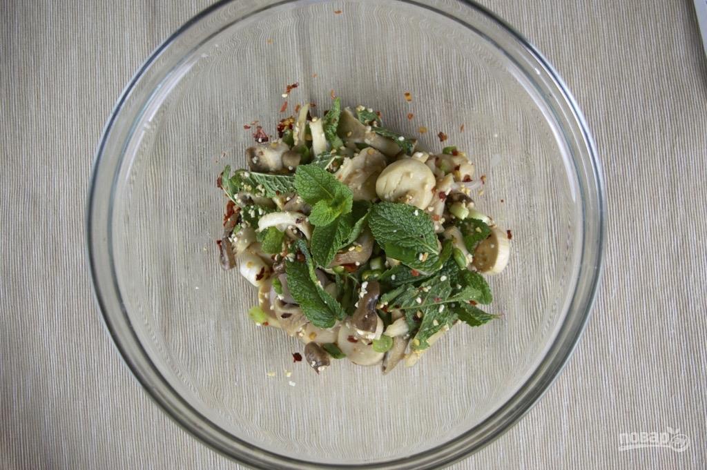 салат тиффани с грибами пошаговый рецепт с фото