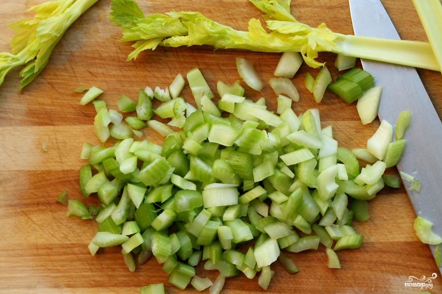 Салат из свежих яблок - фото шаг 3