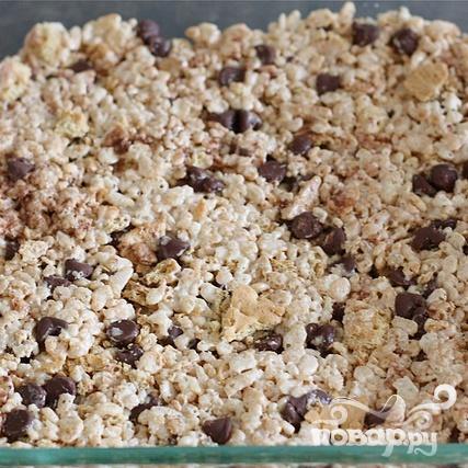 Пирожные с воздушным рисом и зефиром - фото шаг 6