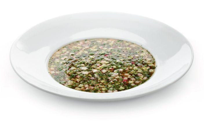 Рецепт Окрошка с колбасой на пиве