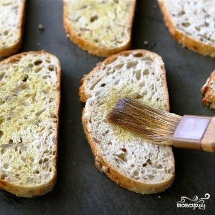 Открытый бутерброд с запеченными помидорами, сыром и бальзамическим уксусом - фото шаг 5