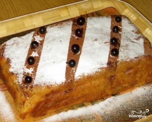 Блинный пирог с творожной начинкой - фото шаг 7