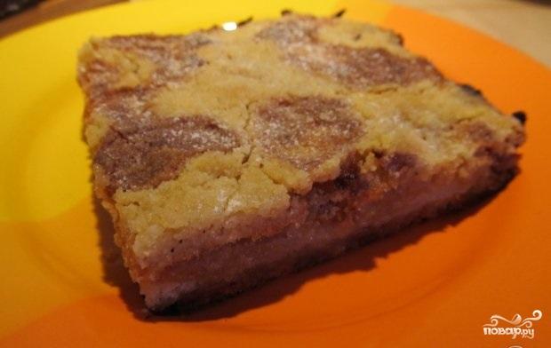 Ленивый пирог с яблоками - фото шаг 5