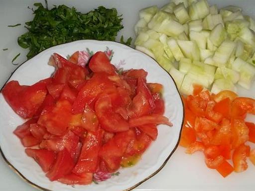 Коктейль из овощей в блендере - фото шаг 2