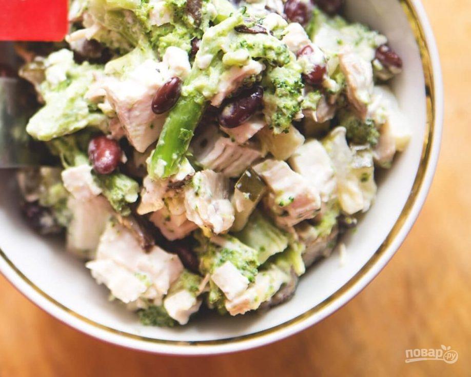 салат из брокколи рецепт с