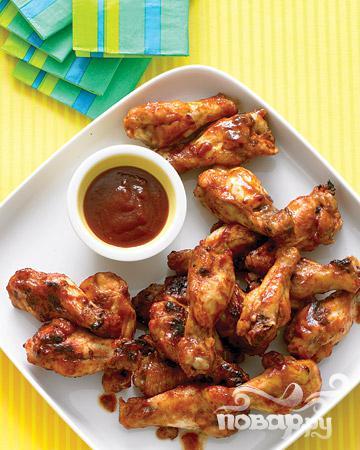 Рецепт Цыпленок барбекю в соусе из коричневого сахара