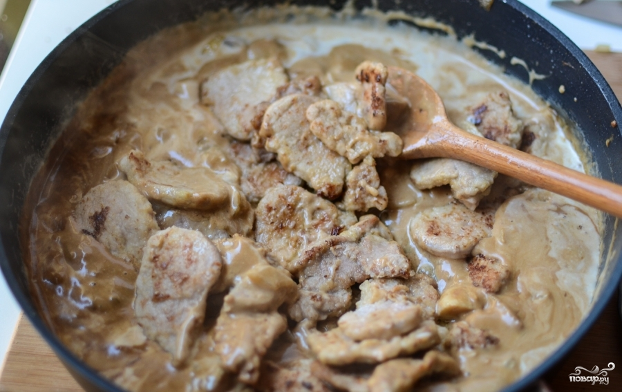 Мясная подлива с грибами рецепт с фото