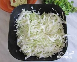 Постный салат из капусты - фото шаг 2