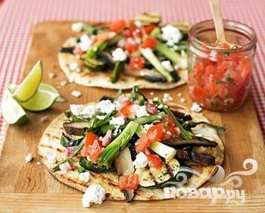 Рецепт Лепешки с овощами на гриле