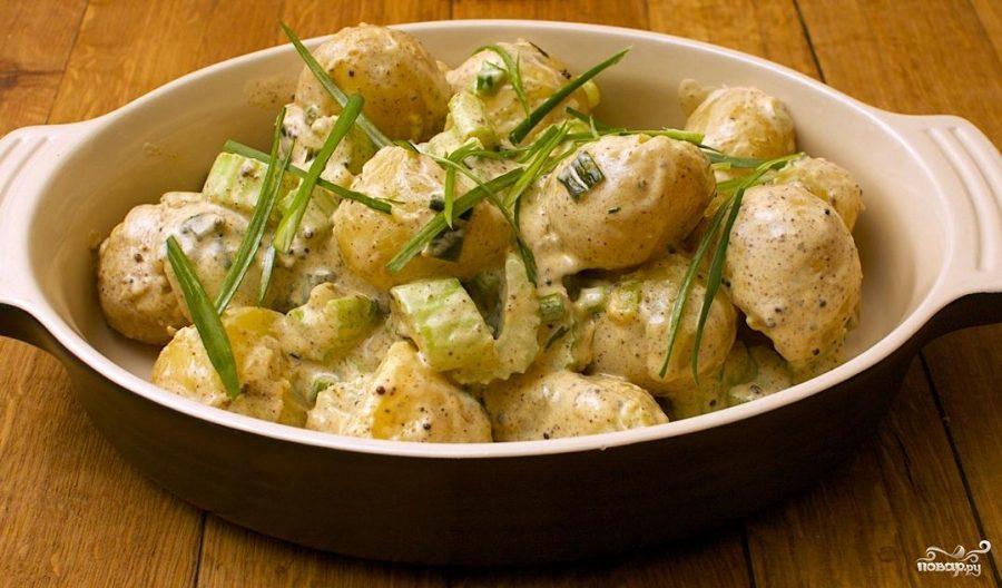 Рецепт Картофельный салат с брюквой