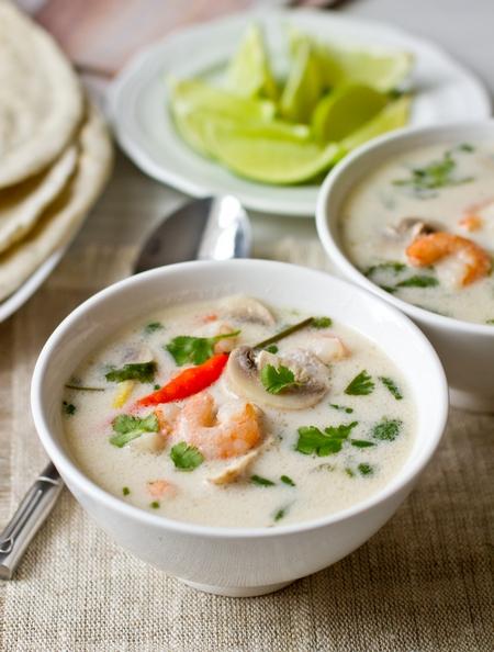 кокосовый суп с креветками рецепт