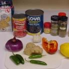 Рецепт Вегетарианская черная фасоль Чили
