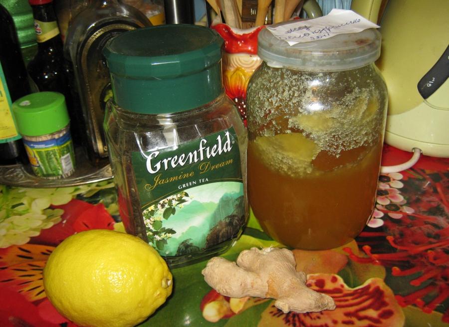 Рецепт Зеленый чай с медом