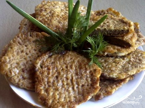 Рецепт Бризоль из печени