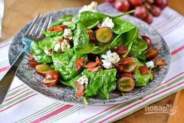 салат из винограда с сыром и ананасом рецепт