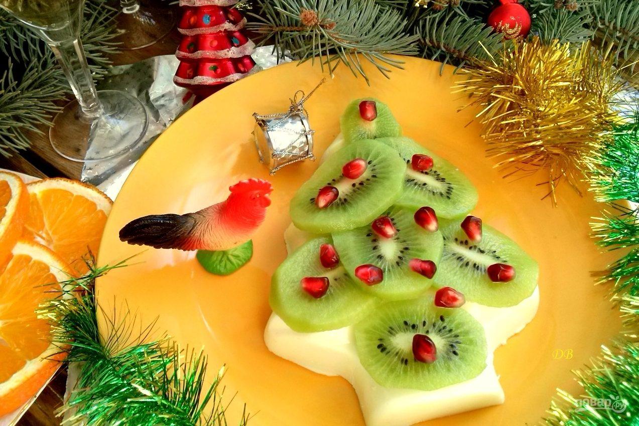 Десерт в форме елки