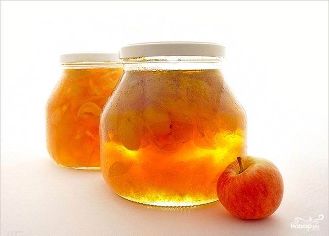 Рецепт Яблочное варенье пятиминутка