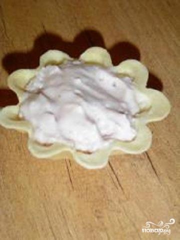 Песочные корзинки с йогуртовым кремом - фото шаг 4