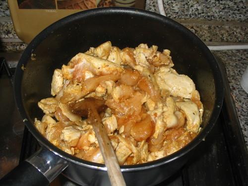 Курица с грибами - фото шаг 6