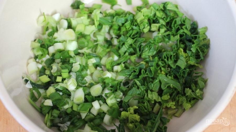 Свежий салат с плавленым сырком - фото шаг 1