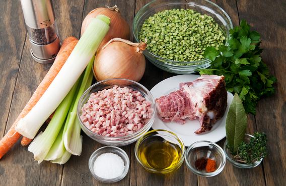 Рецепт Гороховый суп-пюре с сухариками