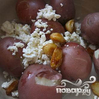 Гирос с картофелем и сыром Фета - фото шаг 4