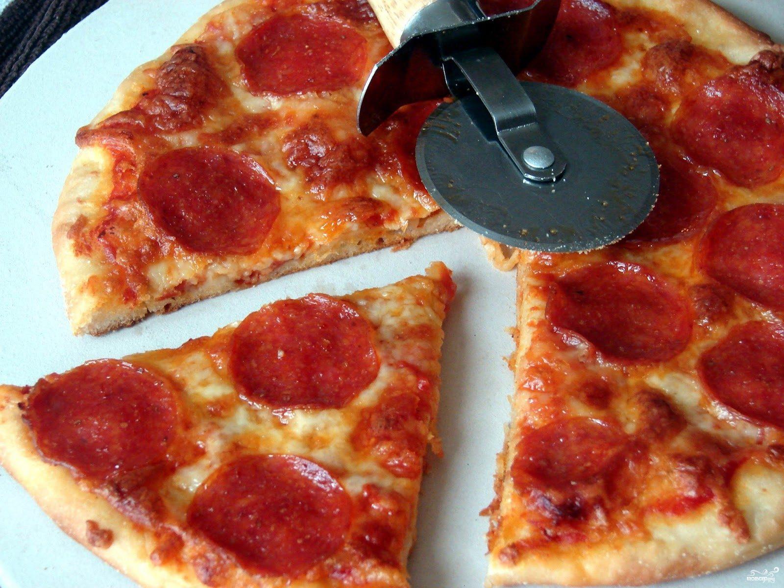Рецепт Пицца с копченой колбаской