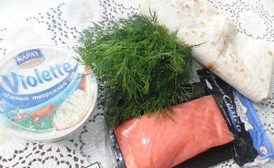 Рецепт Рулет из лаваша с рыбой