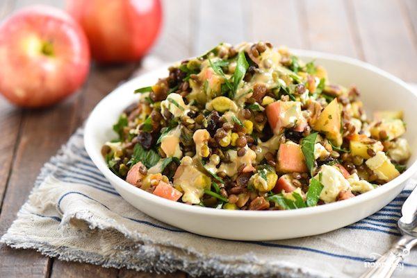 Вкусный салат из чечевицы