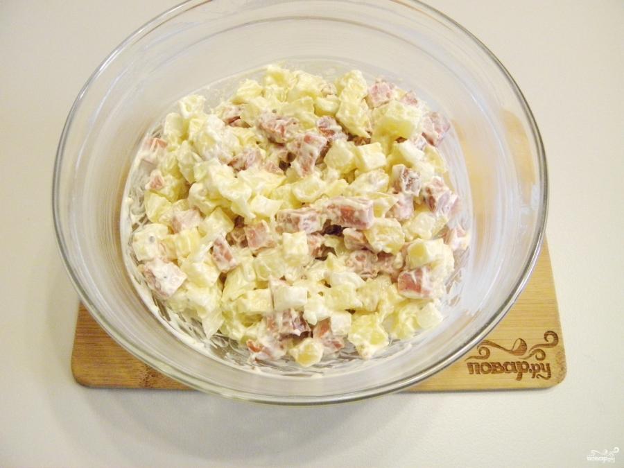 Салат с картошкой и сыром - фото шаг 9