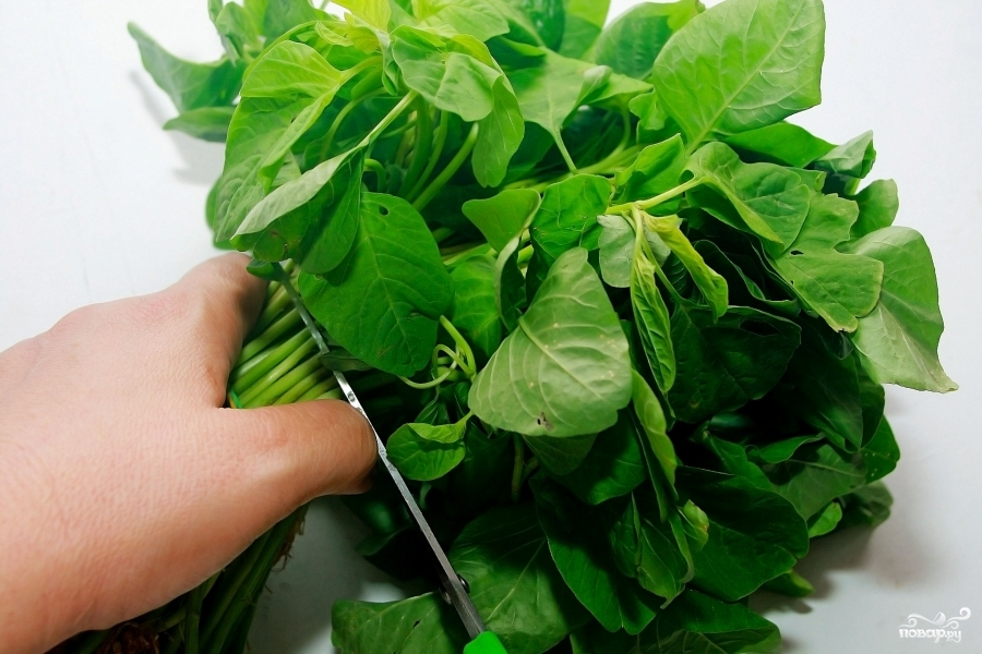 Рецепт Салат со шпинатом и сыром