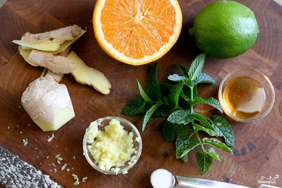 Рецепт Салат из дыни и арбуза