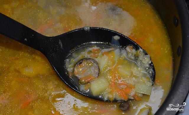 Постный грибной суп в мультиварке - фото шаг 5