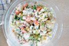 Картофельный салат с соусом Тцатцики