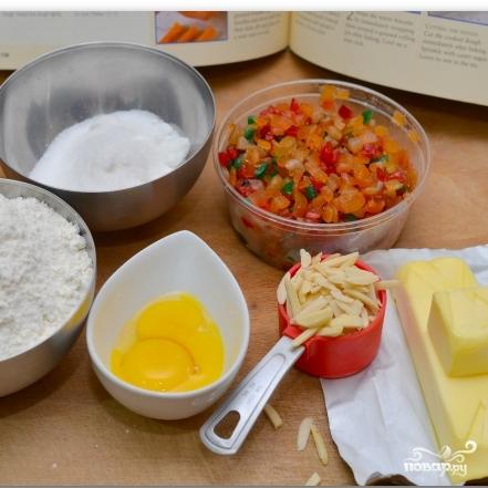 Рецепт Рождественское печенье с цукатами и орехами