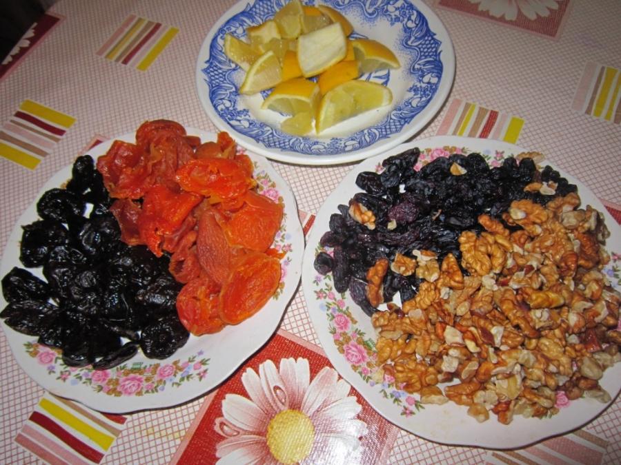 Рецепт Витаминная смесь из сухофруктов
