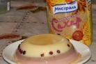 Сметанный десерт с желе