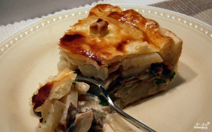 Рецепт Картофельный пирог с грибами и сыром