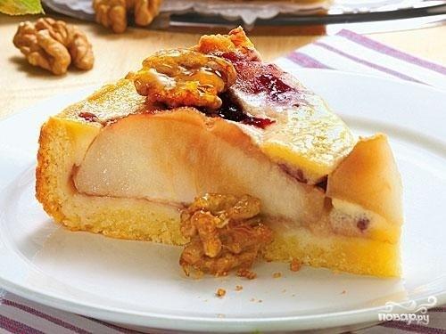 Пирог с творогом и грушей - фото шаг 6