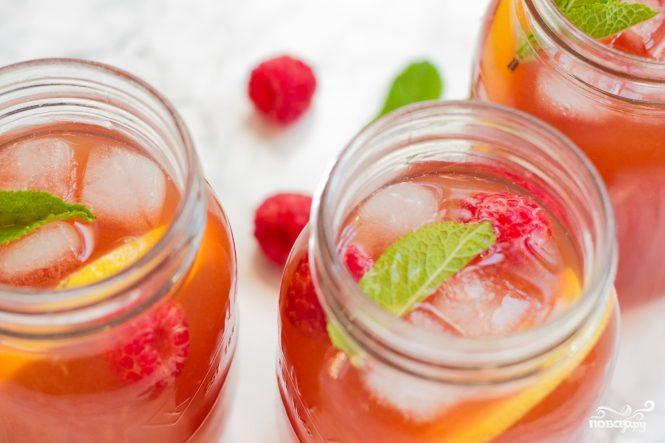 Рецепт Чай с малиной и мелиссой